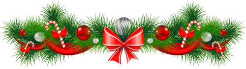 Transparent_Christmas_Pine_Garland_Red_Bow_PNG_Clipart